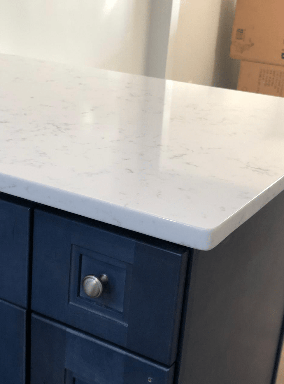 Bergen Granite & Marble - Navy Blue Kitchen Cabinet_2