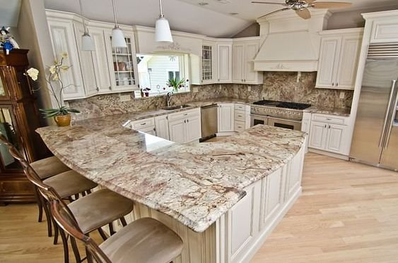 Brown Granite in Kitchen