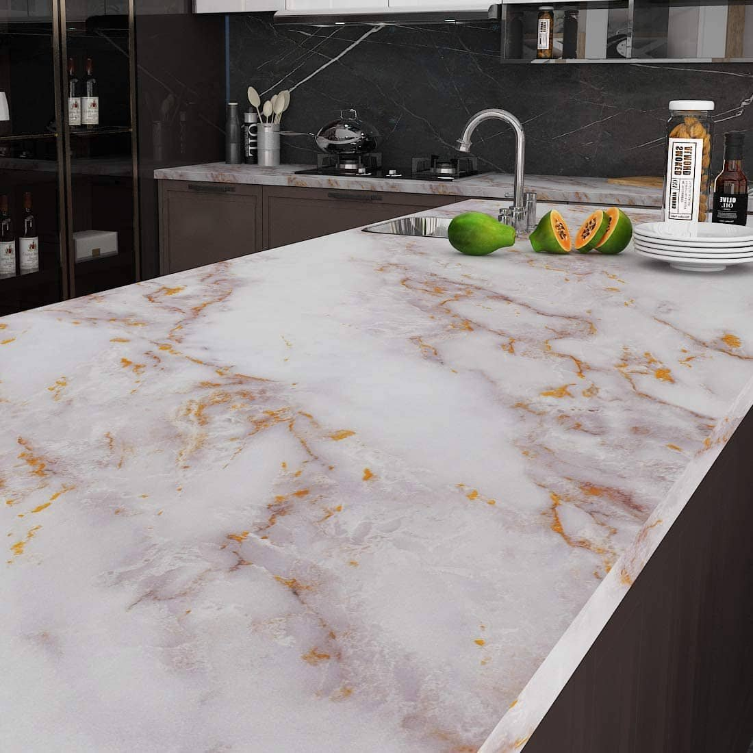 white-gold-marble-countertops