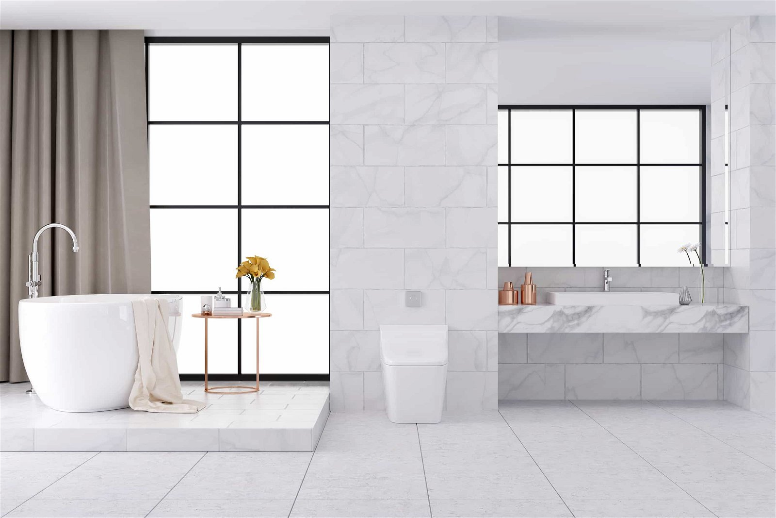 Luxurious Bathrooms with Design Details
